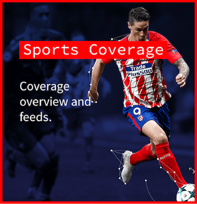 Sports Coverage. Coverage overview and feeds.